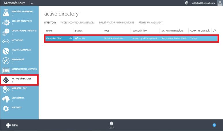 CRM Online Access Active Directory Via Azure