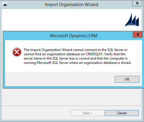 Ms Crm Importing Error