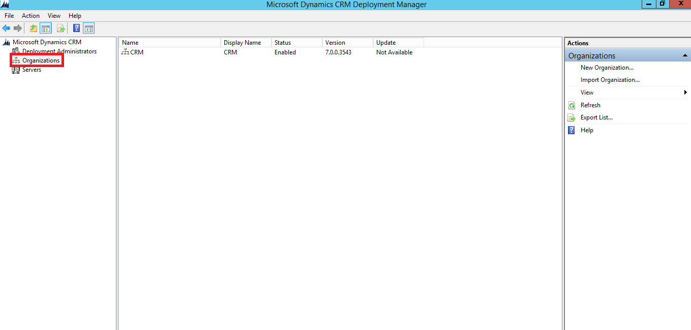 Ms Crm Organization Importing