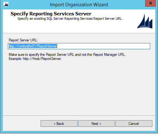 Ms Crm Import Organization Report Server