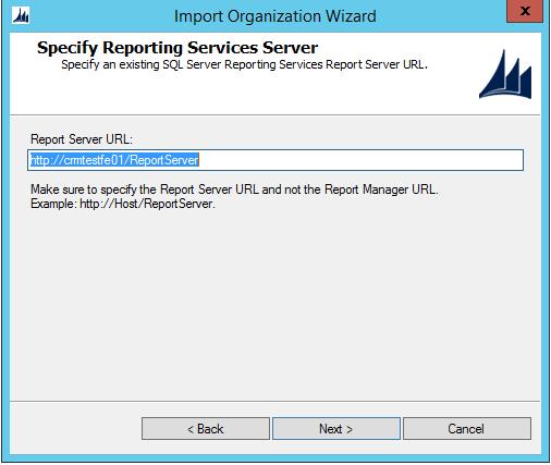 Ms Crm Import Organization Report Server