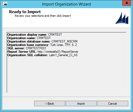 Ms Crm Import Organization