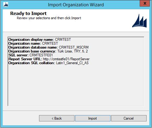 Ms Crm Import Organization